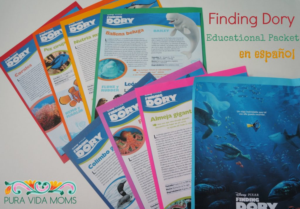Finding Dory Educational Packet In Spanish
