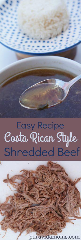 easy recipe costa rican style shredded beef