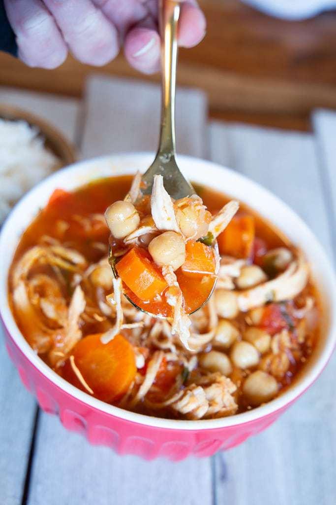 bowl of garbanzo bean soup