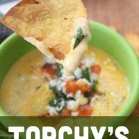 bowl of copycat queso dip.