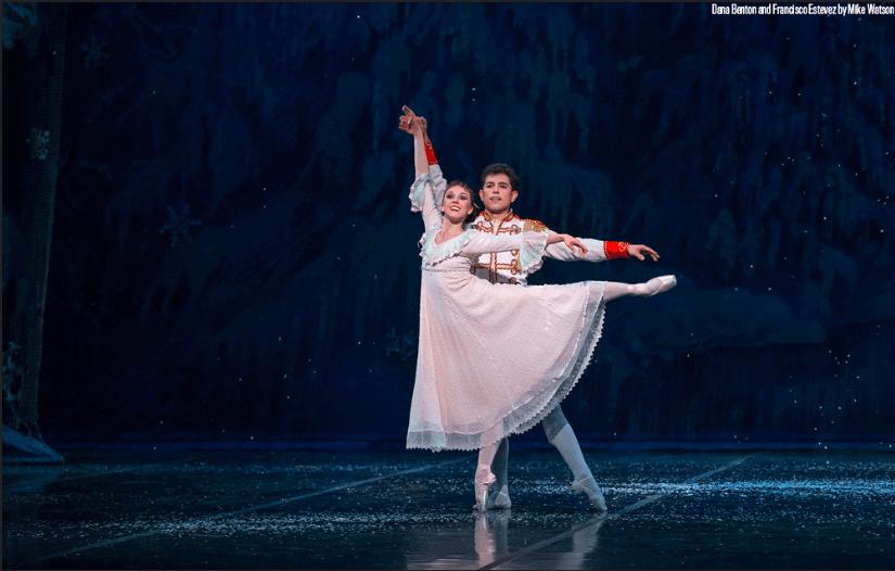 principal nutcracker ballet dancers midair