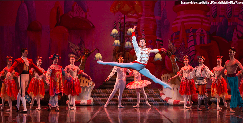 the nutcracker leaping on stage in denver colorado