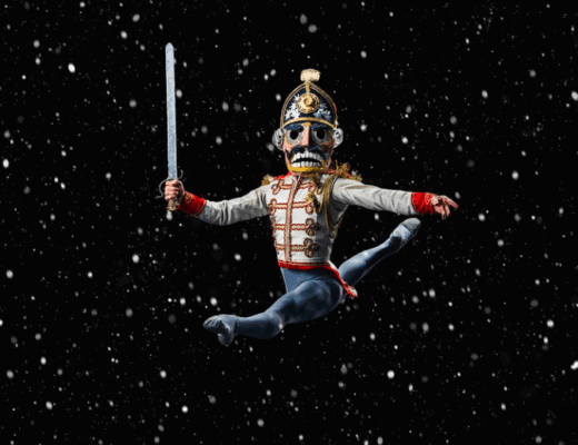 nutcracker mid leap at ellie caulkins opera house