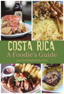 A collage of Costa Rican recipes.