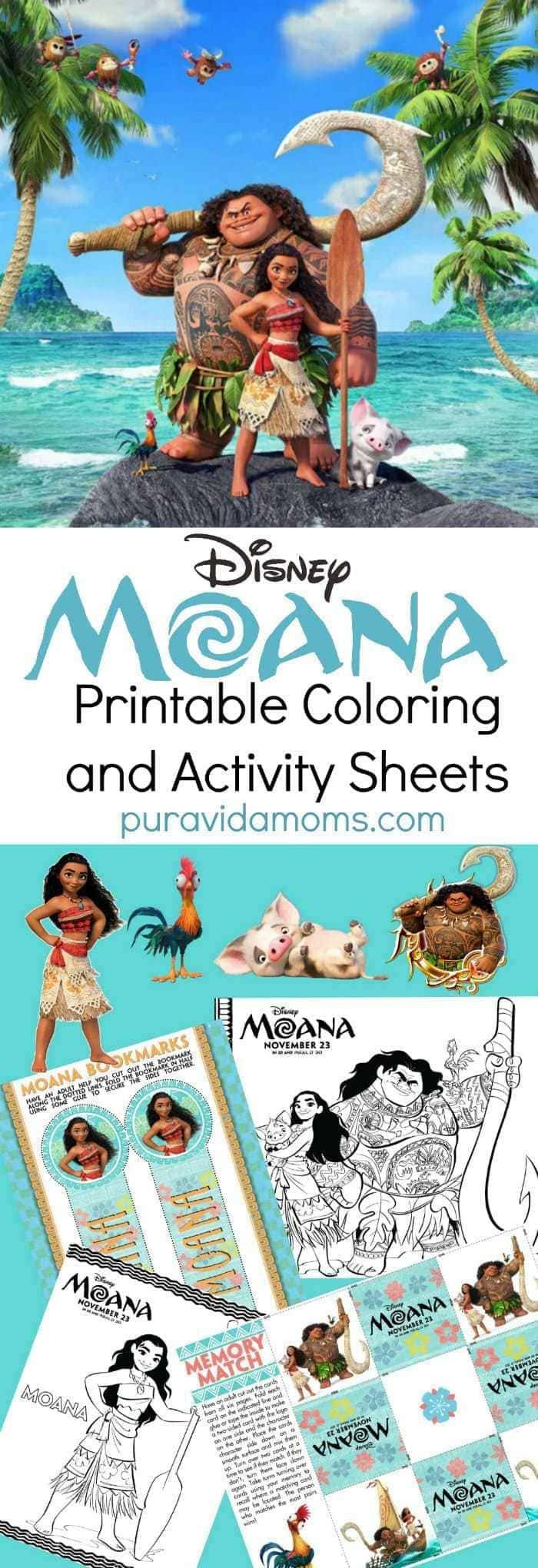 Moana Printable Coloring Sheets