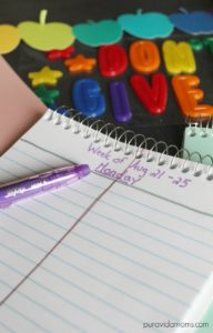 DIY student planner for less than a dollar.