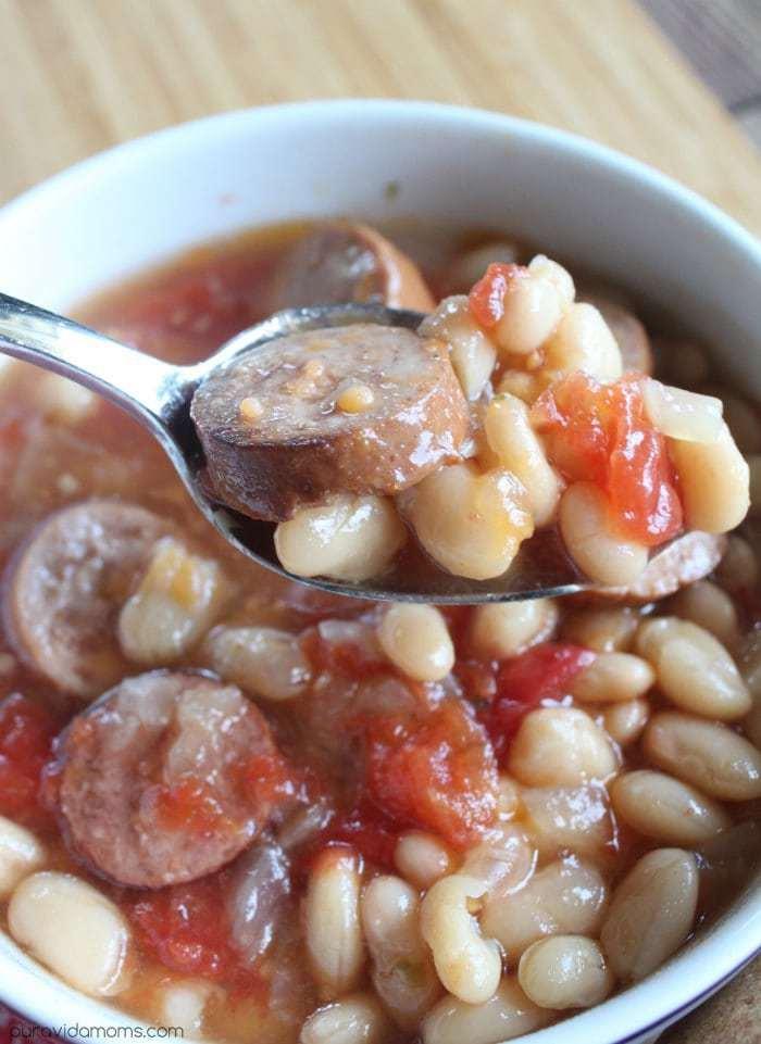 Crock Pot Sausage and White Bean Soup Recipe