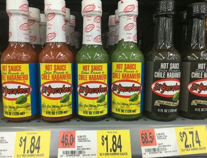 El Yucateo Hot Sauce at Walmart