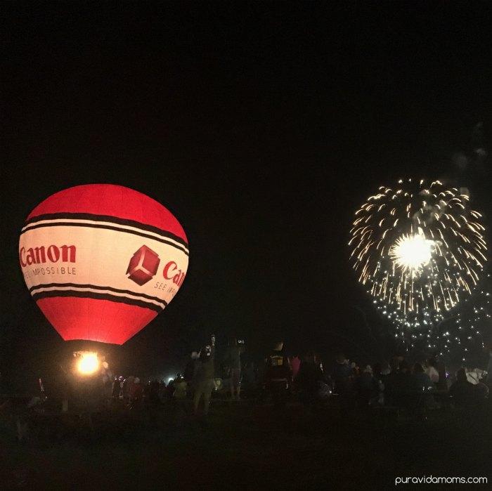 Fireworks Show At Balloon Fiesta