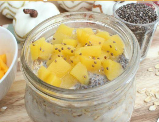 Mango Chia Overnight Oats Recipe