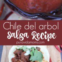 Chile del arbol 10 Minute Salsa Recipe