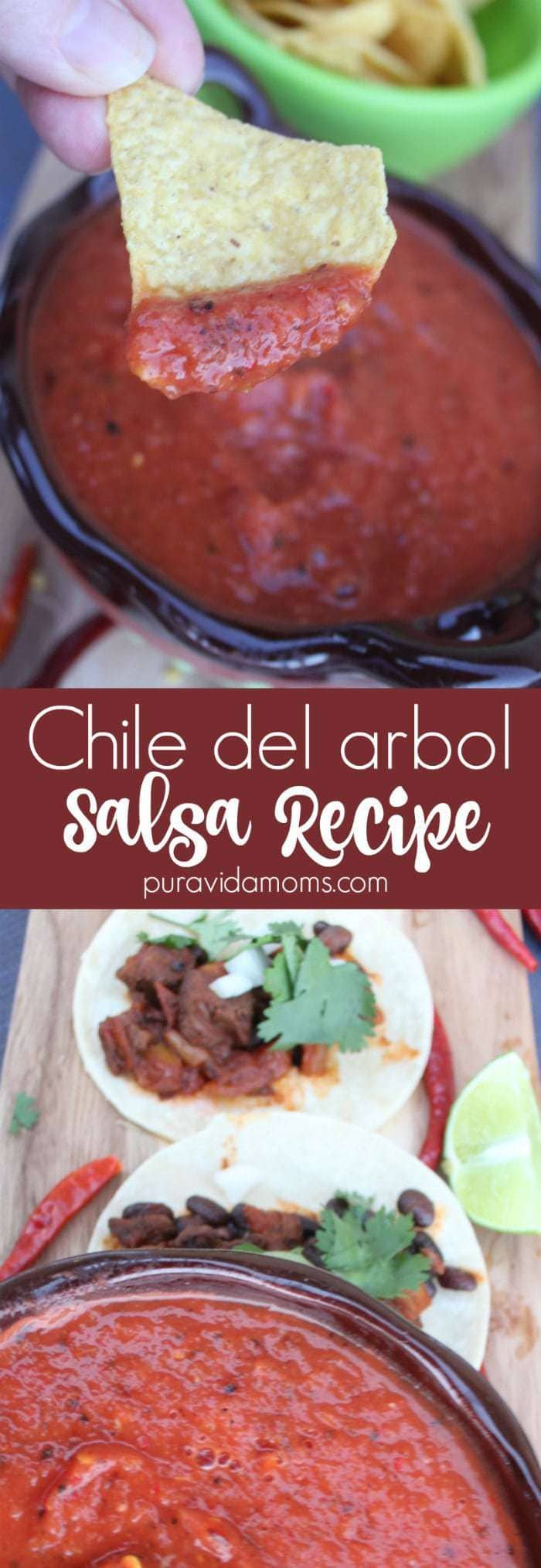 Chile del arbol 10 Minute Salsa Recipe