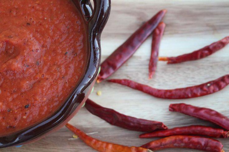 Chile del arbol salsa