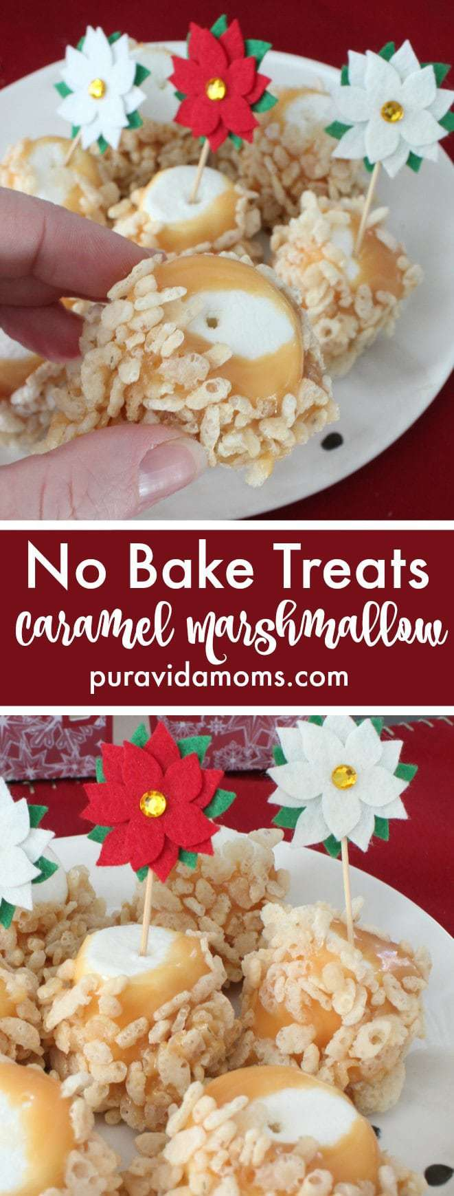 Easy No Bake Caramel Marshmallow Treats