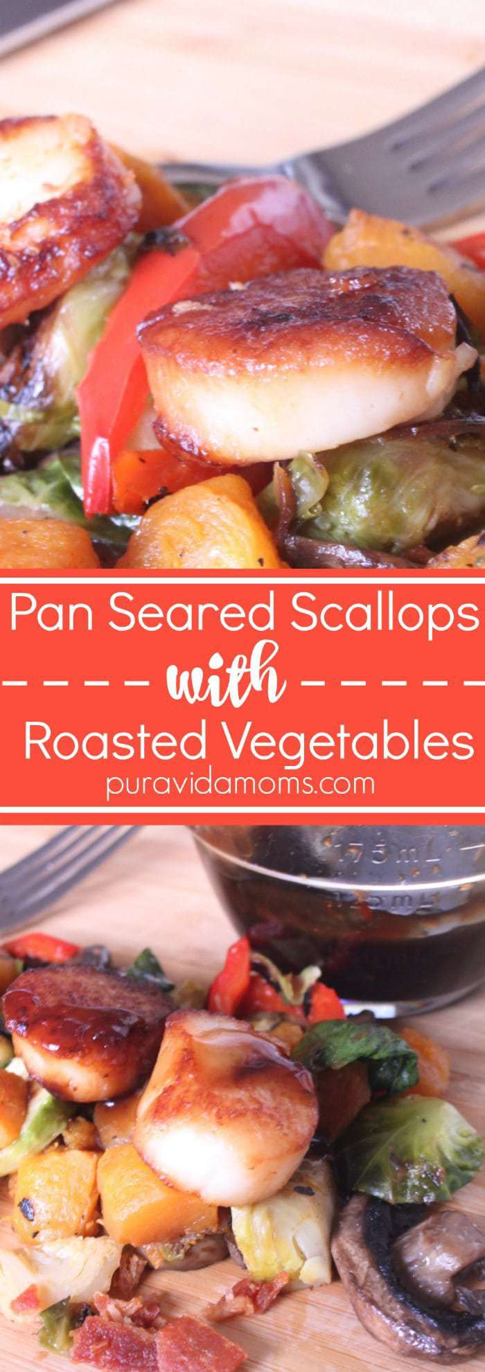 Pan Seared Scallops With Roasted Vegetables Dinner Recipe