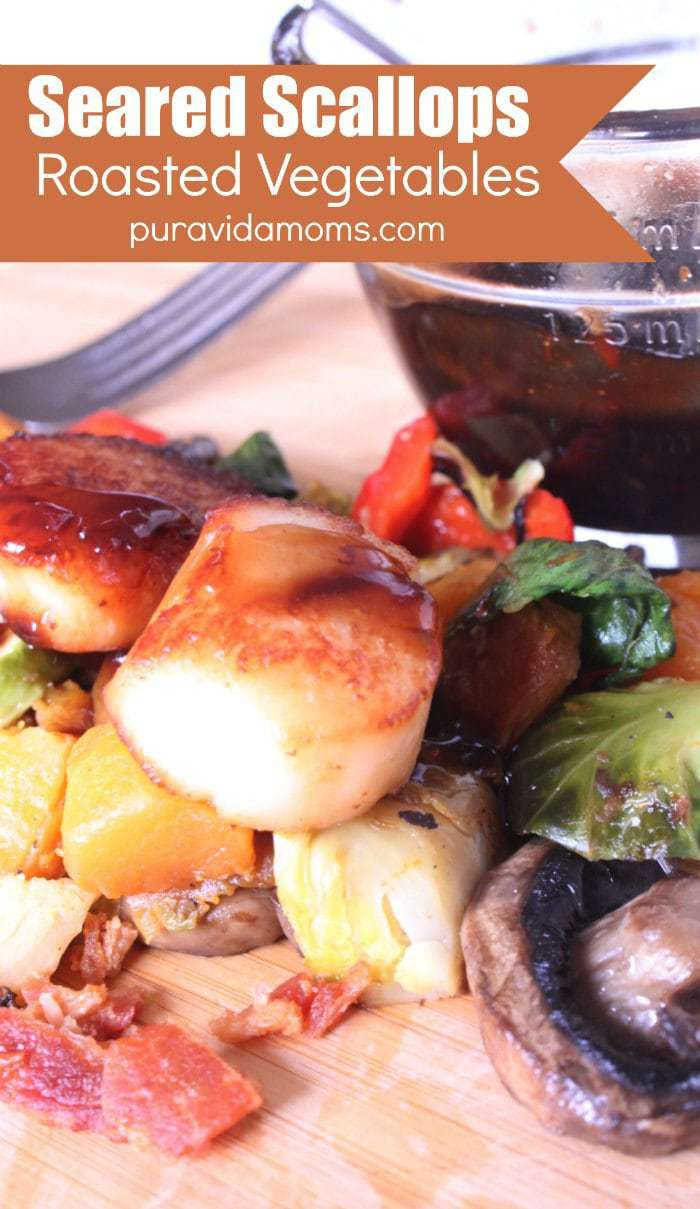 Seared Scallops Roasted Vegetables Recipe