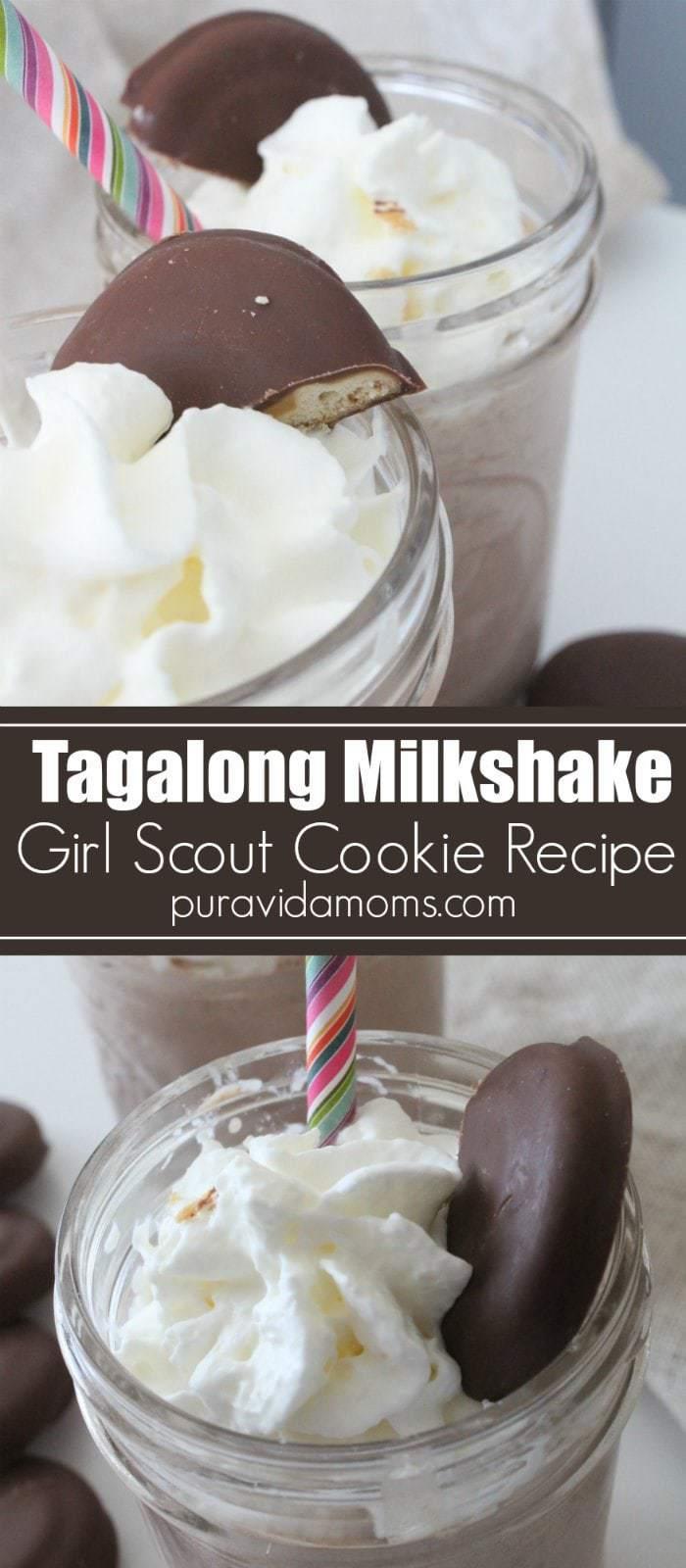 Tagalong Girl Scout Cookie Milkshake Recipe