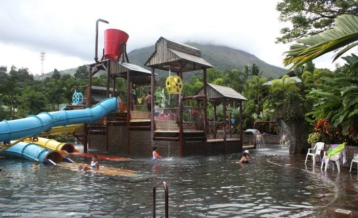 Family hot springs playground and water park Costa Rica.