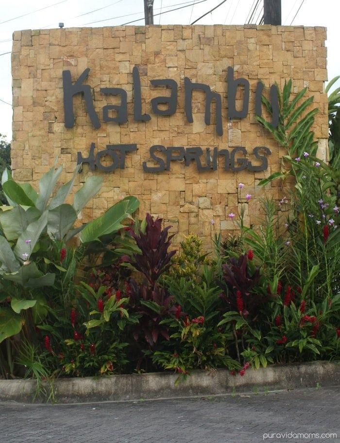 Kalambu Hot Springs Entrance Sign