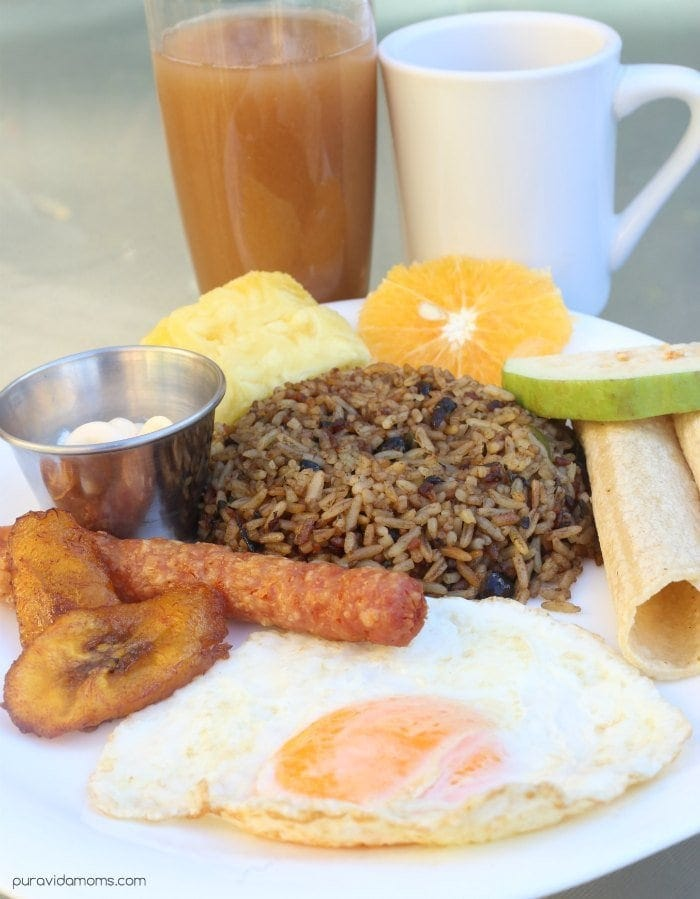 Costa Rican Typical Breakfast At Adventure Inn