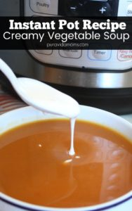 This vegetarian soup made in the Instant Pot combines a hint of Chipotle spice and creamy Mexican flavors with fresh butternut squash for a delicious soup. Perfect to make ahead for weekday lunches or for a warm soup dish on a chilly Fall night- this recipe will become a vegetarian staple in your house!