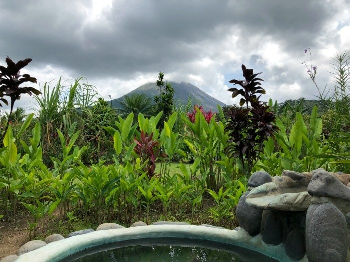 The perfect family hotel near the Arenal Volcano in La Fortuna Costa Rica isVolcano Lodge and Springs! A mid-priced hotel that caters to families- delicious continental breakfast, gorgeous volcano views, multiple hot springs and cold pools and beautifully groomed walking trails.