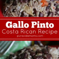 Two images of Costa Rican style rice.