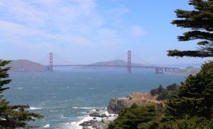 Golden Gate Bridge picture taken from across the bay.