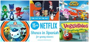 A horizontal collection of Spanish Netflix shows.