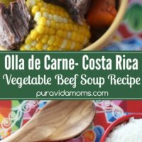 A set of images displaying bowls of Costa Rican Soup.