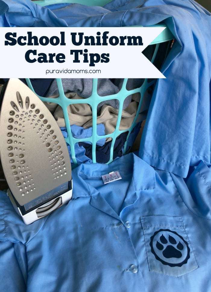 Tips for keeping school uniforms clean, stain free and fresh smelling during Back to School time and year round!