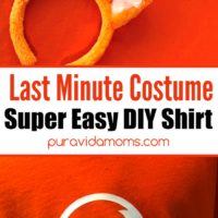Two separate images of a head band and shirt with Howl-O-Ween on it.