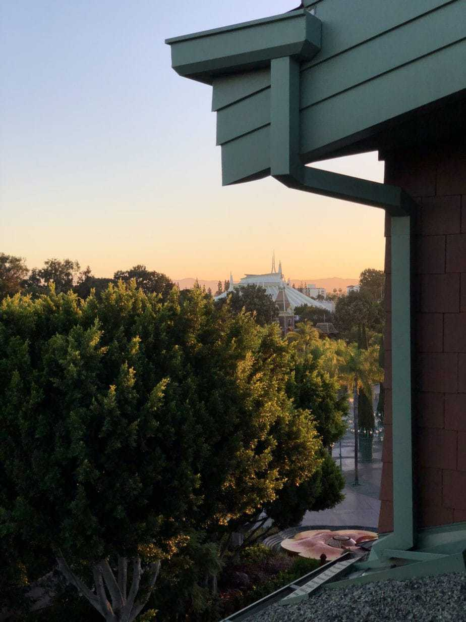 View from Disney's Grand California Balcony.