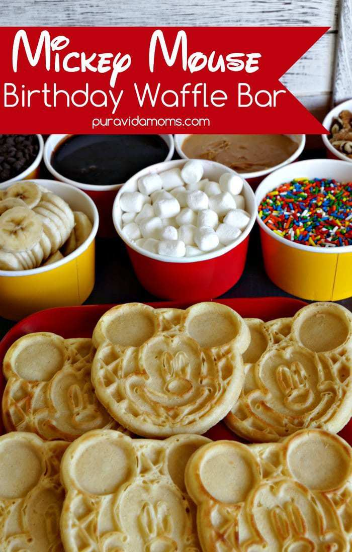 This Easy Breakfast Waffle Bar Idea Is The Perfect Fun And Simple Way To Celebrate Mickey