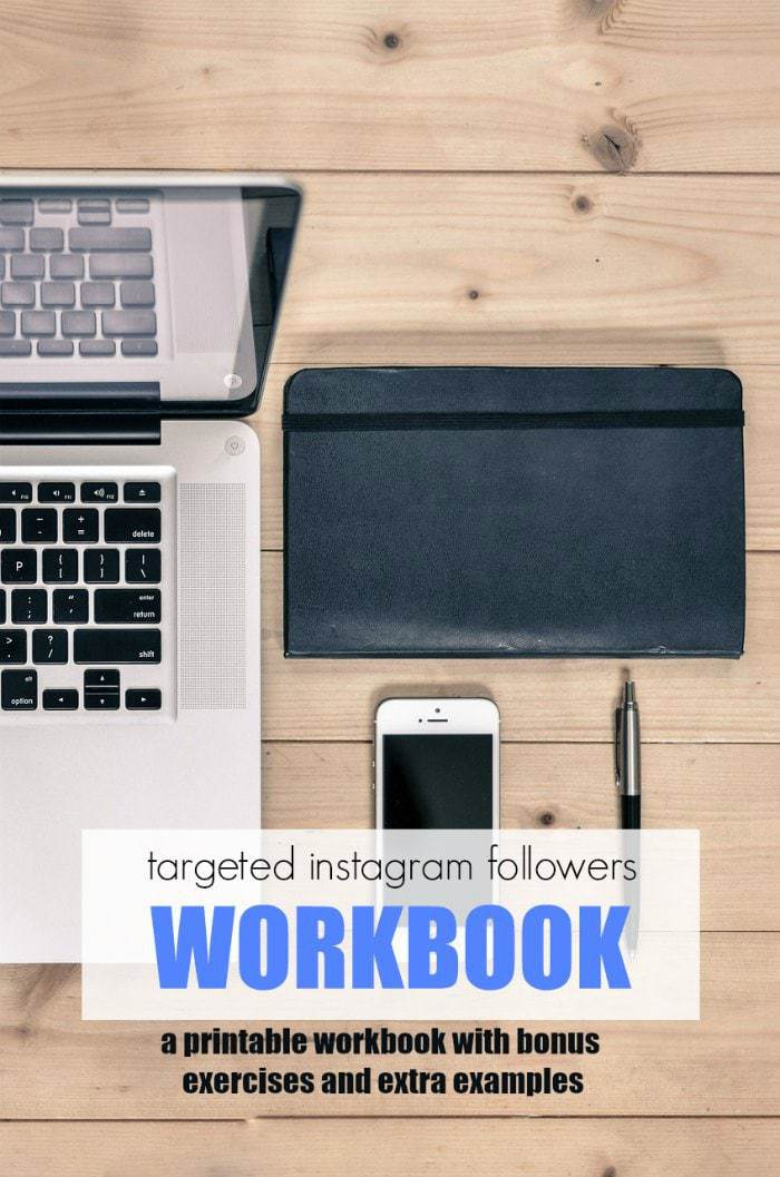 instagram followers workbook