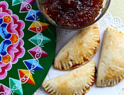 These Costa Rican empanadas de chiverre are the perfect mix of sweet and savory. Made from scratch and baked to golden perfection, these empanadas are a traditional Easter treat in Costa Rica. #costarica #empanada #empanadarecipe #breakfast #breakfastrecipe #snackfood #baking #dessert #dessertrecipe
