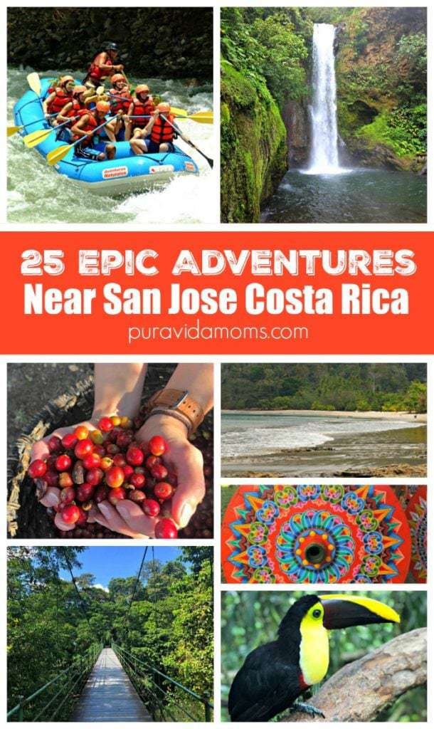 San Jose Costa Rica is the perfect home base for day trips! Our top 25 picks all within a 90-minute drive of the city center. #costarica #familytravel #traveltips #sanjose #daytrip #travel #costarica #puravidamoms