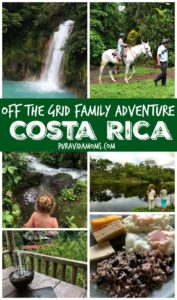 collago of family friendly activities in northern costa rica