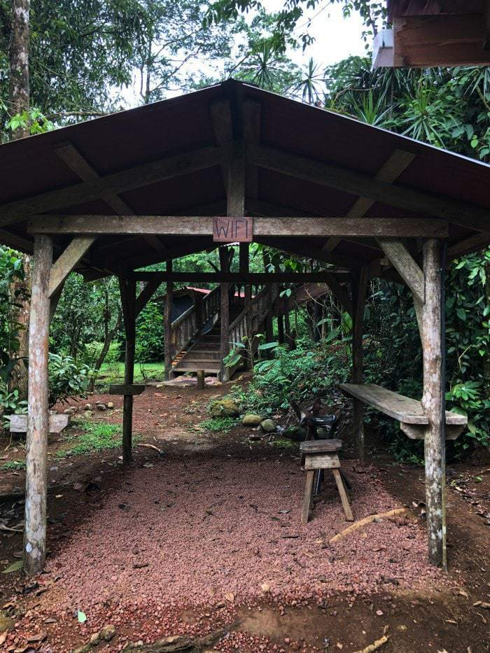 Rustic wifi station Costa Rica.