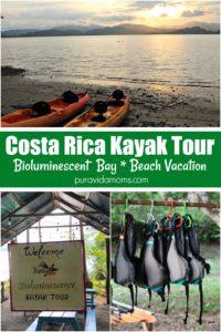 kayaks on beach, life jackets