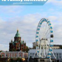 An image of a large Ferris wheel in Helsinki, Finland.