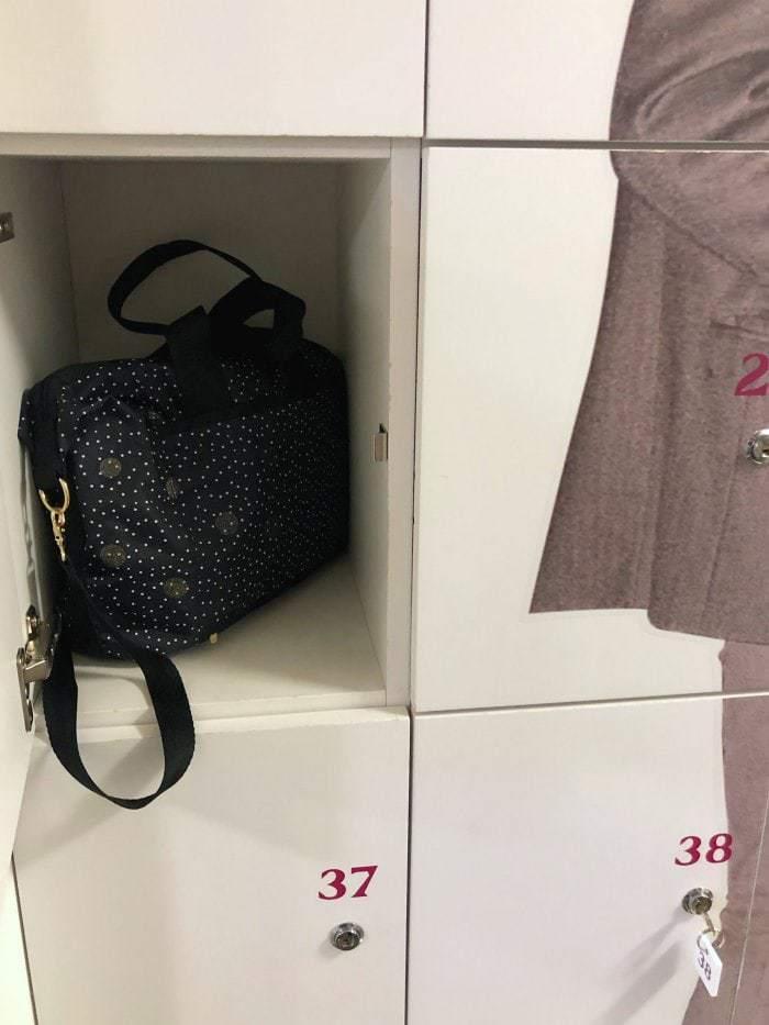 Black bag in locker in Finland