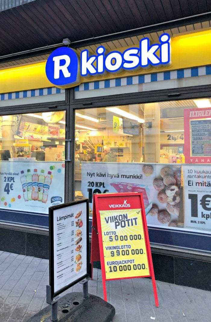 Convenience store in Finland