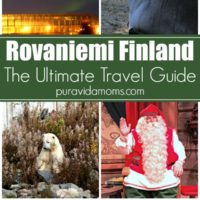 a collage of images showing a guide to travel in Finland.