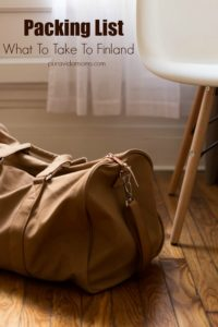 Brown duffel bag in front of window and white chair