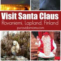 few images showing a place to visit Santa Claus in Finland.