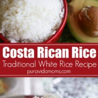 Image of Costa Rican rice in a red bowl.