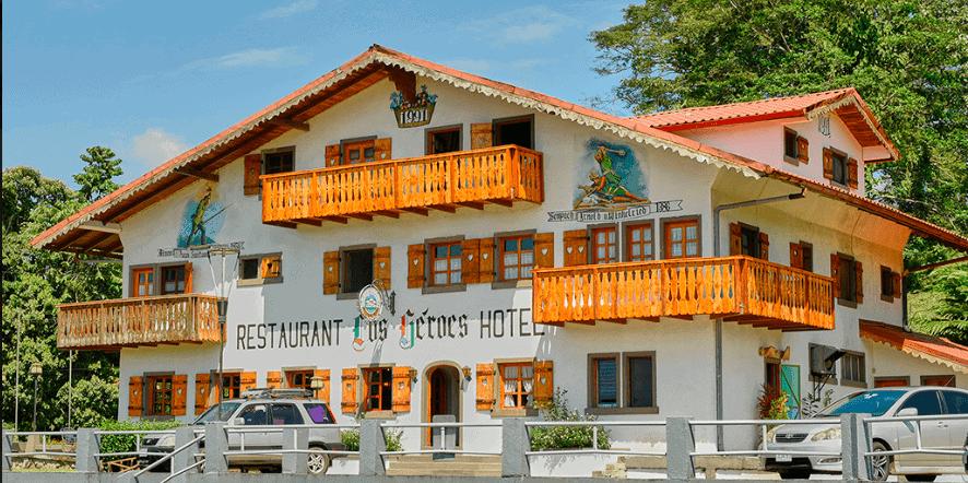 front of hotel los heroes restaurant nuevo arenal costa rica