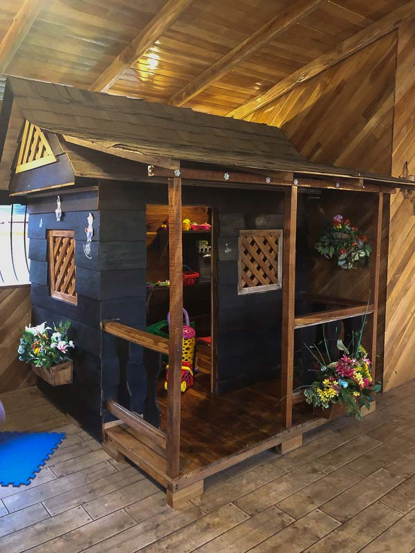kid's playhouse at cafe mediterranea costa rica