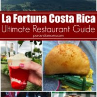 A Guide to Costa Rican restaurants with an assortment of images.